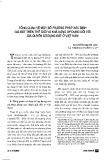 """Báo cáo """" Tổng quan về một số phương pháp xác định giá đất trên thế giới và khả năng áp dụng đối với giá quyền sử dụng đất ở Việt Nam """""""