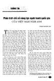 """Báo cáo """" Phân tích chỉ số năng lực cạnh tranh quốc gia của Việt Nam năm 2006"""""""