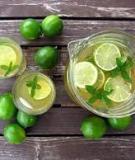 Uống nước chanh mỗi sáng để khỏe & đẹp.