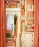 Khéo léo sắp xếp tủ quần áo thật thẩm mỹ