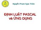 ĐỊNH LUẬT PASCAL  và ỨNG DỤNG