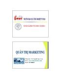 Quản trị marketing - Chương 4 Hành vi khách hàng và phân khúc thị trường  (TS Nguyễn Ngọc Long)