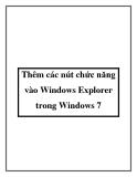 Thêm các nút chức năng vào Windows Explorer trong Windows 7