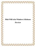 Phát Wifi trên Windows 8 Release Preview
