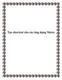 Tạo shortcut cho các ứng dụng Metro