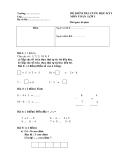 Đề kiểm tra toán lớp 1 học  kì 1
