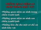 NHỮNG QUAN NIỆM AN  NINH TRONG KHU VỰC