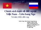 Chính sách kinh tế đối ngoại Việt Nam – Liên bang Nga