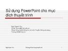Sử dụng PowerPoint cho mục đích thuyết trình