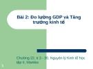 GDP và các chỉ số kinh tế vĩ mô