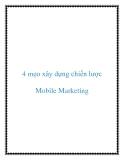 4 mẹo xây dựng chiến lược Mobile Marketing