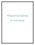 """Những bài học marketing từ """"Arab Spring"""""""