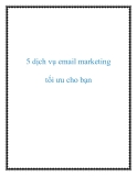 5 dịch vụ email marketing tối ưu cho bạn