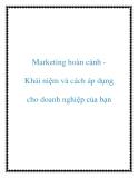 marketing hoàn cảnh khái niệm và cách áp dụng cho doanh nghiệp của bạn