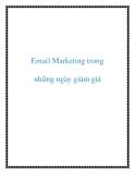 Email Marketing trong những ngày giảm giá