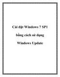Cài đặt Windows 7 SP1 bằng cách sử dụng Windows Update