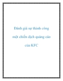 Đánh giá sự thành công một chiến dịch quảng cáo của KFC