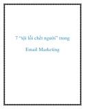 """7 """"tội lỗi chết người"""" trong Email Marketing"""