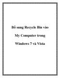 Bổ sung Recycle Bin vào My Computer trong Windows 7 và Vista