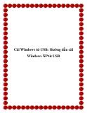 Cài Windows từ USB: Hướng dẫn cài Windows XP từ USB