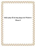 Khắc phục lỗi tải ứng dụng trên Windows Phone 8