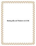 Hướng dẫn cài Windows từ USB
