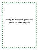 Hướng dẫn 3 cách đơn giản nhất để chuyển file Word sang PDF