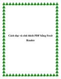 Cách đọc và chú thích PDF bằng Foxit Reader