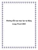 Hướng dẫn tạo mục lục tự động trong Word 2003