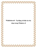 WinReducer8 - Tự động cài đặt các tùy chọn trong Windows 8
