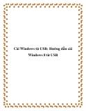 Cài Windows từ USB: Hướng dẫn cài Windows 8 từ USB