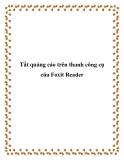 Tắt quảng cáo trên thanh công cụ của Foxit Reader