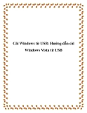 Cài Windows từ USB: Hướng dẫn cài Windows Vista từ USB