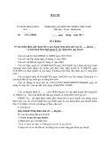 MẪU Về việc thẩm định, phê duyệt hồ sơ quy hoạch nông thôn mới của xã ….., huyện … và ban hành Quy định quản lý xây dựng theo quy hoạch