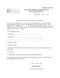 MẪU chấp thuận tổ chức các lớp học cập nhật kiến thức cho kiểm toán viên năm…