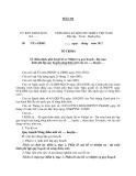 MẪU Về thẩm định, phê duyệt hồ sơ Nhiệm vụ quy hoạch - Dự toán kinh phí lập quy hoạch nông thôn mới của xã….., huyện….