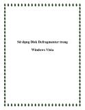 Sử dụng Disk Defragmenter trong Windows Vista