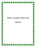 Windows CardSpace: Kiểm tra thẻ thông tin