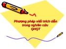 Phương pháp viết trích dẫn trong nghiên cứu quan hệ quốc tế