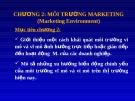 Chương 2 : Môi trường marketing