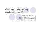 Đặc điểm môi trường marketing quốc tế