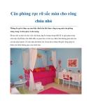 Căn phòng rực rỡ sắc màu cho công chúa nhỏ