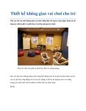 Thiết kế không gian vui chơi cho trẻ