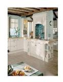 Trang trí nội thất nhà bếp với màu trắng kem nổi bật