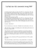 Lợi hại của việc customize trong ERP