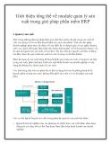 Giới thiệu tổng thể về module quản lý sản xuất trong giải pháp phần mềm ERP