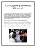 Kỹ năng giao tiếp-Hành trang cho giới trẻ