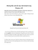 Hướng dẫn cách tắt máy tính nhanh trong Windows XP