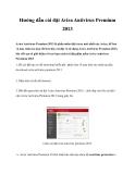 Hướng dẫn cài đặt Avira Antivirus Premium 2013