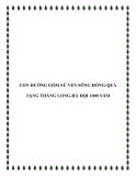 CON ĐƯỜNG GỐM SỨ MỸ THUẬT VEN SÔNG HỒNG-QUÀ TẶNG THĂNG LONG-HÀ HỘI 1000 NĂM
